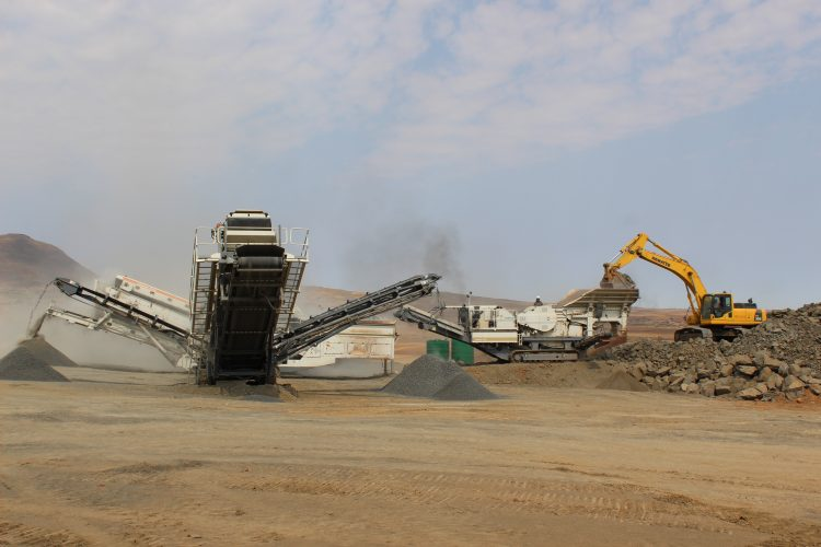 Excavator working at Nthane Brothers Plant